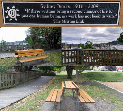 Sydney Banks Memorial Bench Created